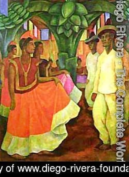 Diego Rivera - Dance In Tehuantepec 1928