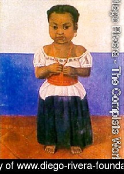 Diego Rivera - Girl With Coral Necklace