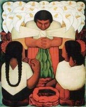 Diego Rivera - Flower Day