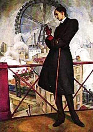 Diego Rivera - Portrait Of Adolf Best Maugard 1913