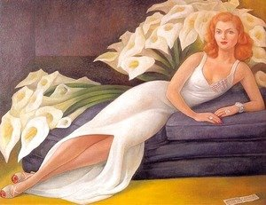 Diego Rivera - Portrait Of Natasha Gellman 1943