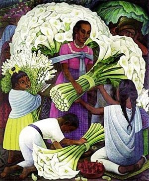 Diego Rivera - The Flower Vendor