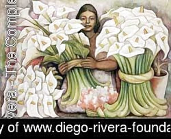 Diego Rivera - Vendedora De Alcatraces 1938