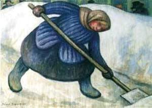 Diego Rivera - Woman Picking Snow 1955