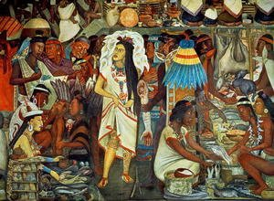 Diego Rivera - The Market of Tlatelolco  (detail)