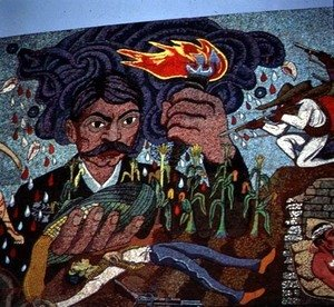 Diego Rivera - History of the Theatre in Mexico (detail)