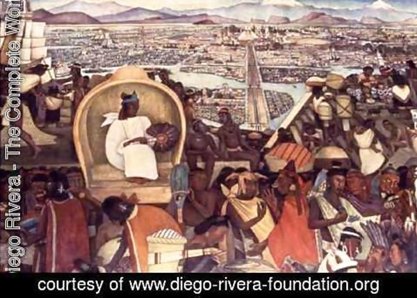 Diego Rivera - Detail from The Great City of Tenochtitlan 1945-52