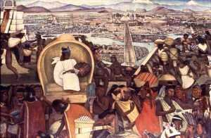 Detail from The Great City of Tenochtitlan 1945-52