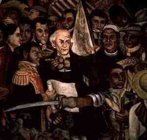 Diego Rivera - The Tribunal of the Inquisition (detail from mural cycle)