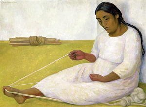 Diego Rivera - Indian Spinning