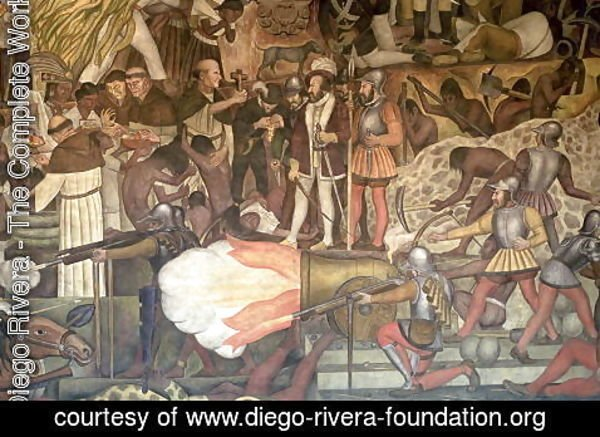Diego Rivera - Mural from the series Epic of the Mexican People  1925-35