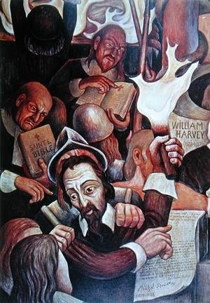 Diego Rivera - Michel Servet (1511-53), martyr of Science