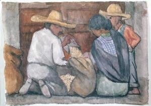Diego Rivera - Grain Collectors, 1934