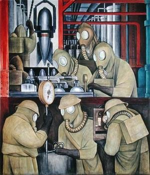 Diego Rivera - Detroit Industry-3,  1933