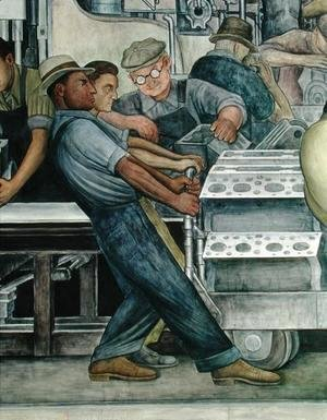 Diego Rivera - Detroit Industry-4, 1933