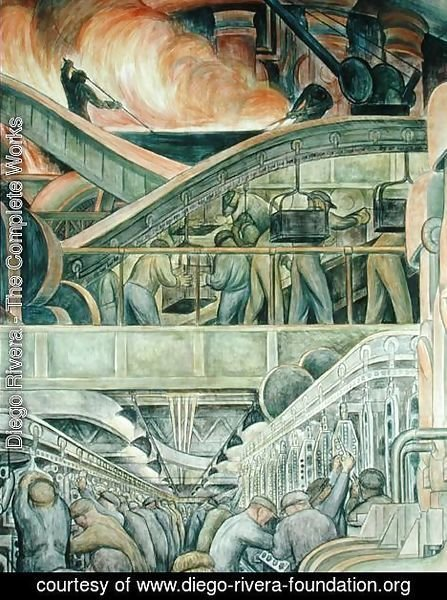 an analysis of the topic of the detroit industry by diego rivera