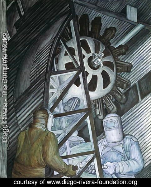 Diego Rivera - Detroit Industry-17,  1932-33