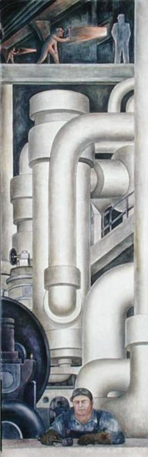 Diego Rivera - Detroit Industry-21,  1932-33