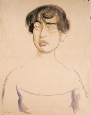 Diego Rivera - Portrait of Lupe Marin, 1922