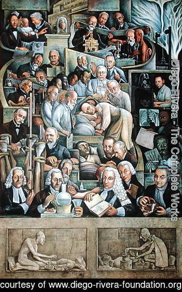 Diego Rivera - The History of Cardiology  1943-44