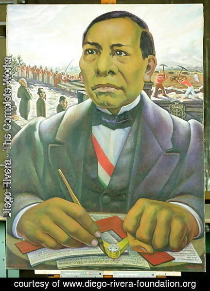 Diego Rivera - Portrait of Benito Juarez  1948