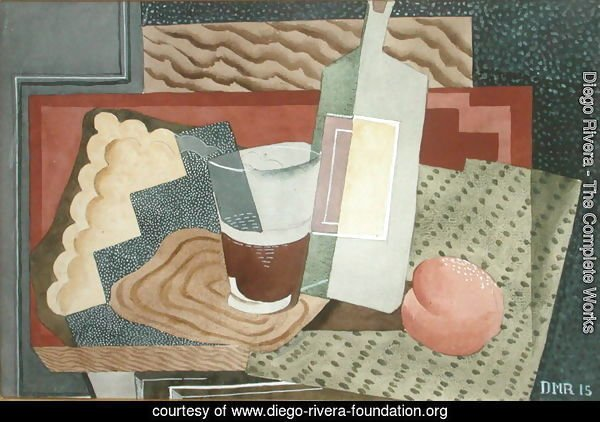 Still Life with Bottle and Glass 1945