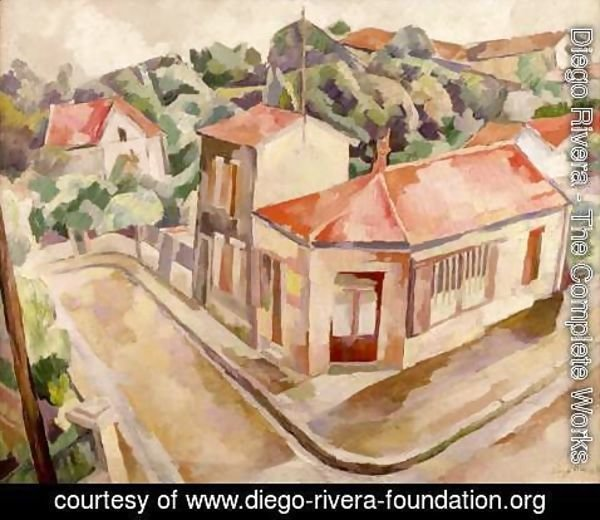 Diego Rivera - View of Arcueil