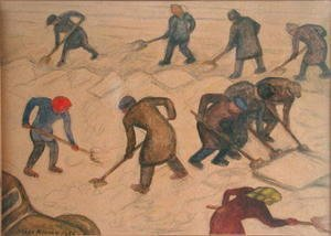 Diego Rivera - Shovelling Snow 1956