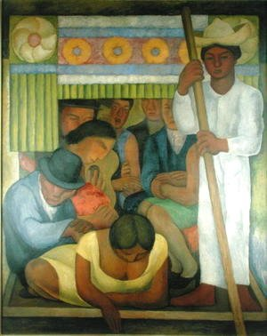 Diego Rivera - The Flowered Canoe, 1931