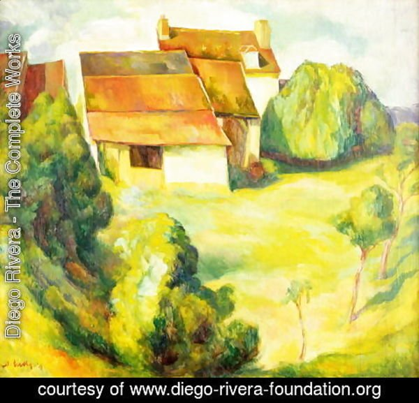 Diego Rivera - Farmhouse, 1914