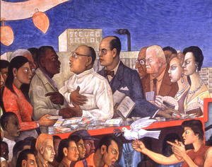 Diego Rivera - The History of Medicine in Mexico  The People's Demand for Better Health, 1953