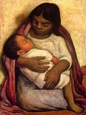 Diego Rivera - Delfina and Dimas