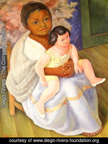 Diego Rivera - Nina with Doll, 1954