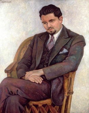 Diego Rivera - Portrait of the Poet Lalane  1936