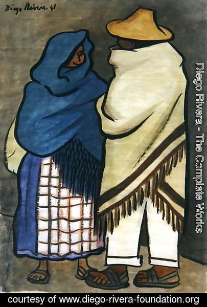 Diego Rivera - Pair of Indians  1941