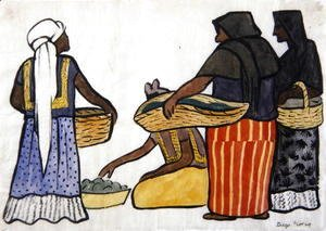 Diego Rivera - Vendors in the Market, 1935