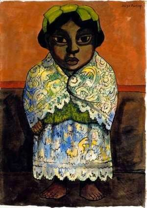 Diego Rivera - Portrait of a Girl  c.1945