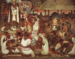 Diego Rivera - The Zapotec Civilisation, 1947