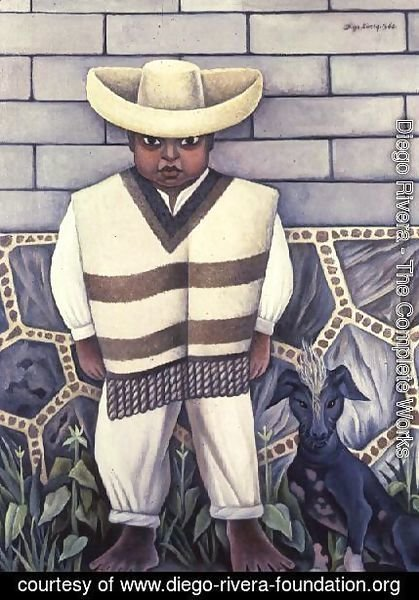 Diego Rivera - Boy with a Dog