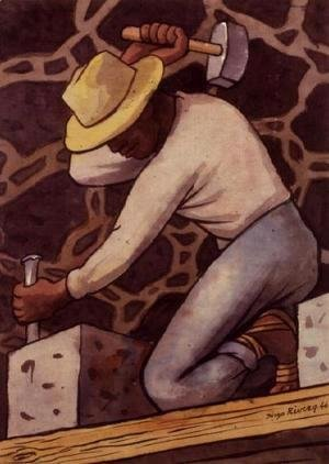 Diego Rivera - The Stone Cutter