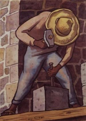 Diego Rivera - The Stone Mason