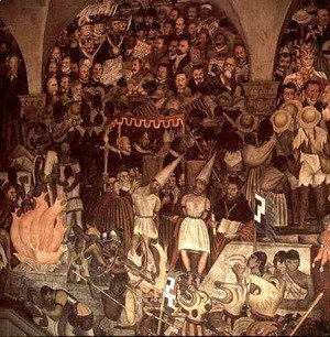 Diego Rivera - The Court of the Inquisition, Mural
