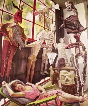 Diego Rivera - The Painter's Studio 1954