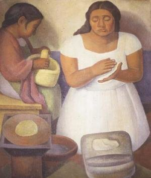 Diego Rivera - Making Tortillas  1926