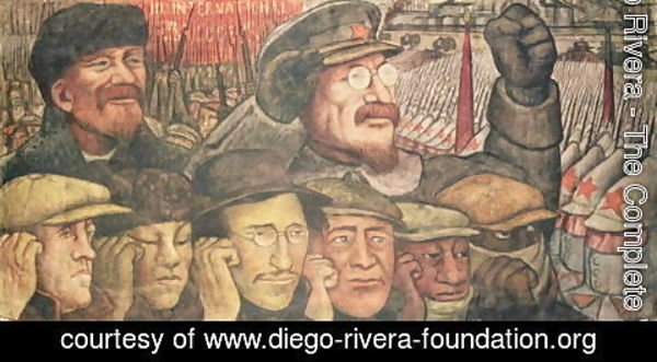 Diego Rivera - The Third International, Moscow 1917