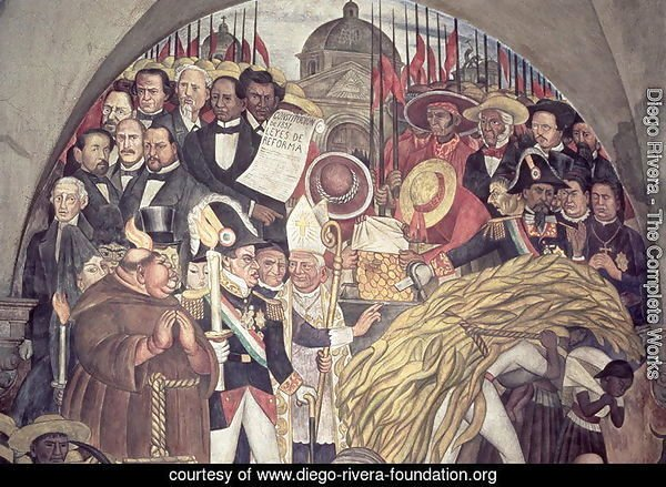 History of Mexico from the Conquest to 1930, detail from a mural in the cycle Epic of the Mexican People, 1929-31