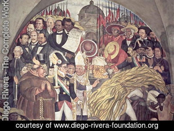 Diego Rivera - History of Mexico from the Conquest to 1930, detail from a mural in the cycle Epic of the Mexican People, 1929-31
