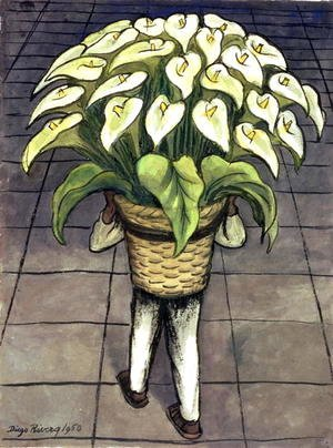 Man Loaded with Lilies  1950