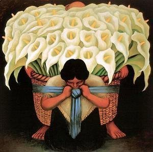 Diego Rivera - The Flower-Seller  1942 2