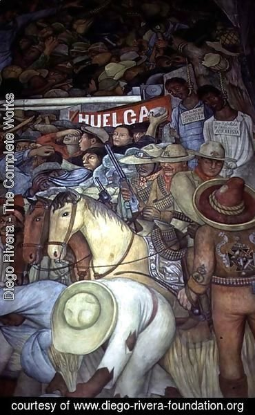 Diego Rivera - Repression, Mexico Today and Tomorrow, from the series,  Epic of the Mexican People, 1934-5